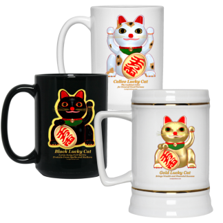 Lucky Cat Mugs and Steins