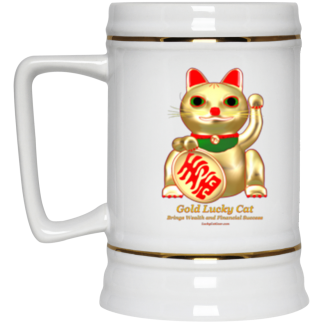 22oz Lucky Cat Beer Steins