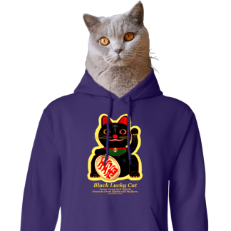 Lettered Lucky Cat Hoodies