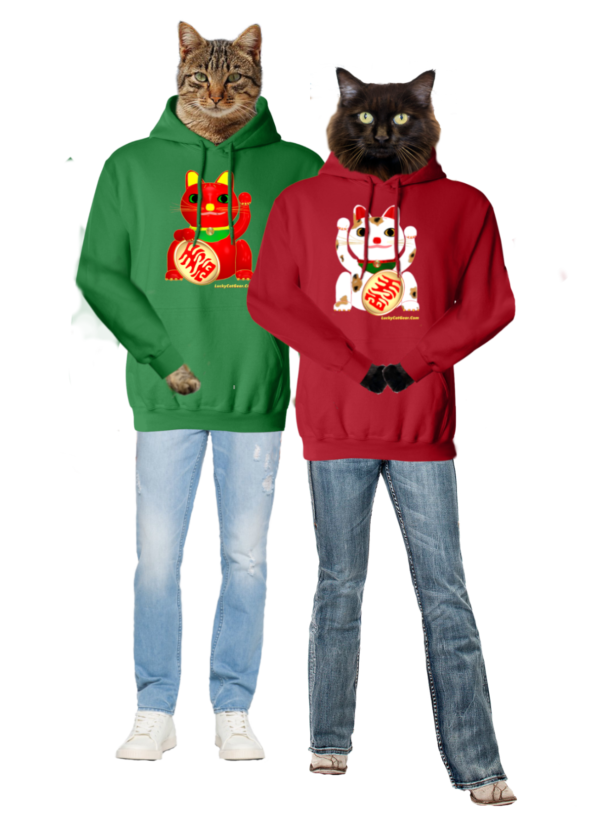 Lucky Cat Hoodies
